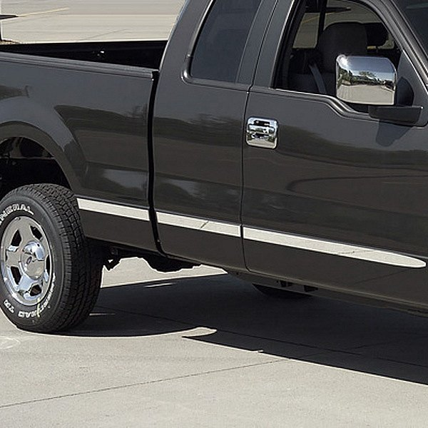 Putco ford f 150 f 150 heritage supercab 2004 polished body side moldings for Ford f 150 exterior accessories