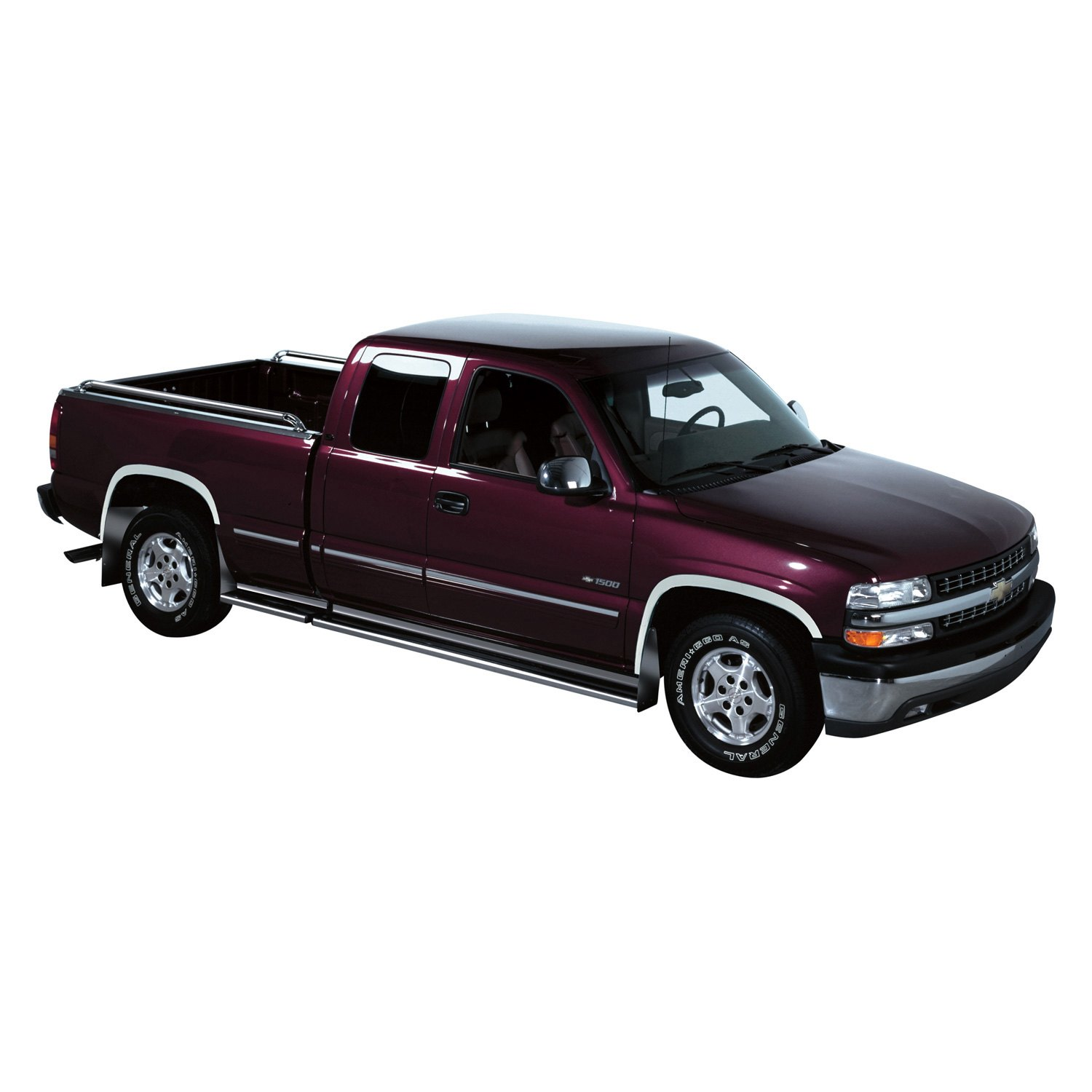 Putco chevy tahoe 1996 polished fender trim for 1996 chevy tahoe interior parts
