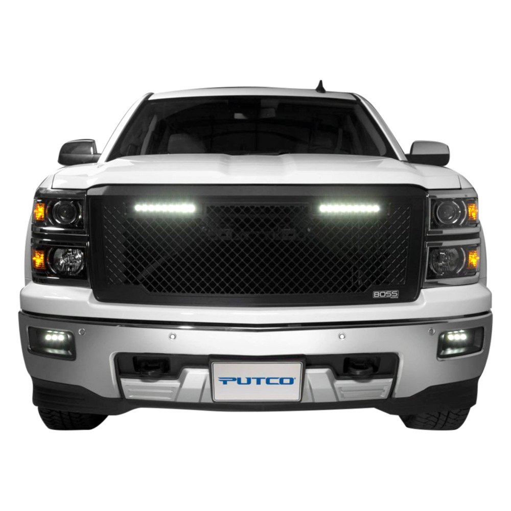 Putco chevy silverado 2015 boss black grille insert - Grilles indiciaires fpt 2015 ...