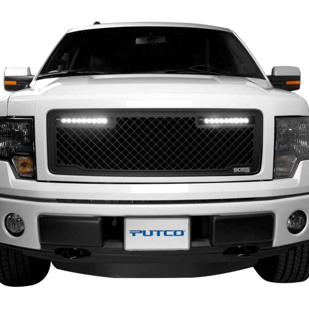 grille putco ford 150 insert boss cnc lighted machined pc led grill inserts grilles aluminum