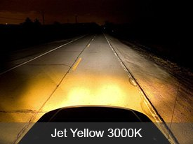 Putco Halogen Bulbs Installed - Jet Yellow