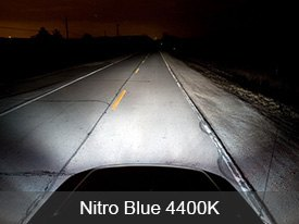Putco Halogen Bulbs Installed - Nitro Blue