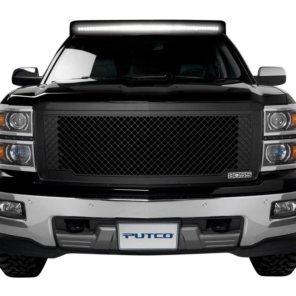 Putco chevy silverado 2014 1 pc boss design black cnc - 2014 chevy silverado interior accessories ...