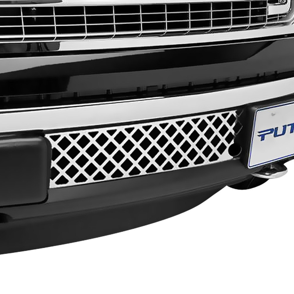Putco 82182fp diamond ecoboost steel front bumper grille chrome polished