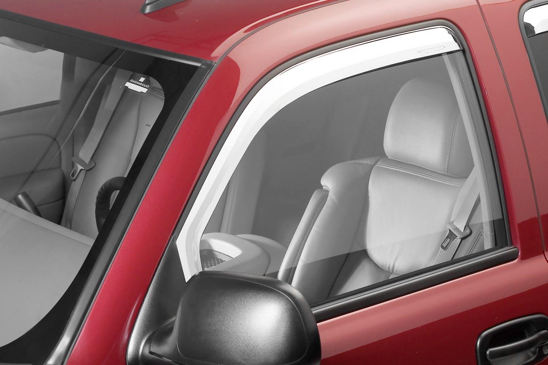 Putco element chrome window visors putco element chrome window visorsputco in channel element chrome front and rear window