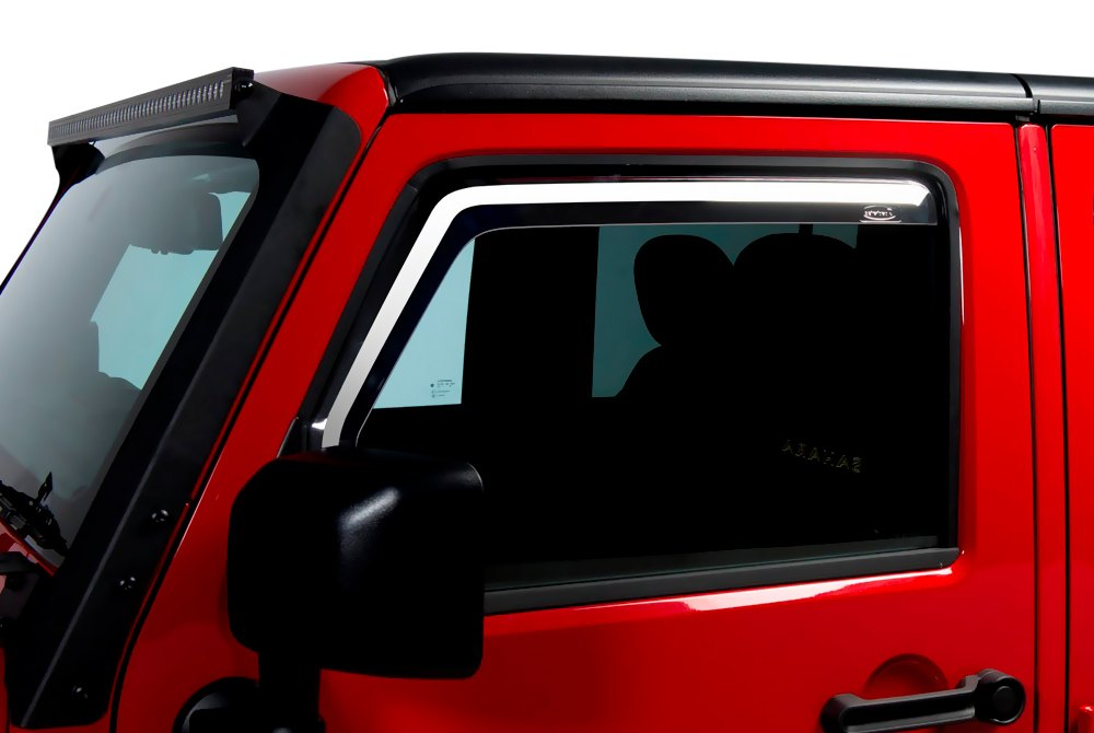 Putco 174 Jeep Wrangler 2013 In Channel Element Window Visors