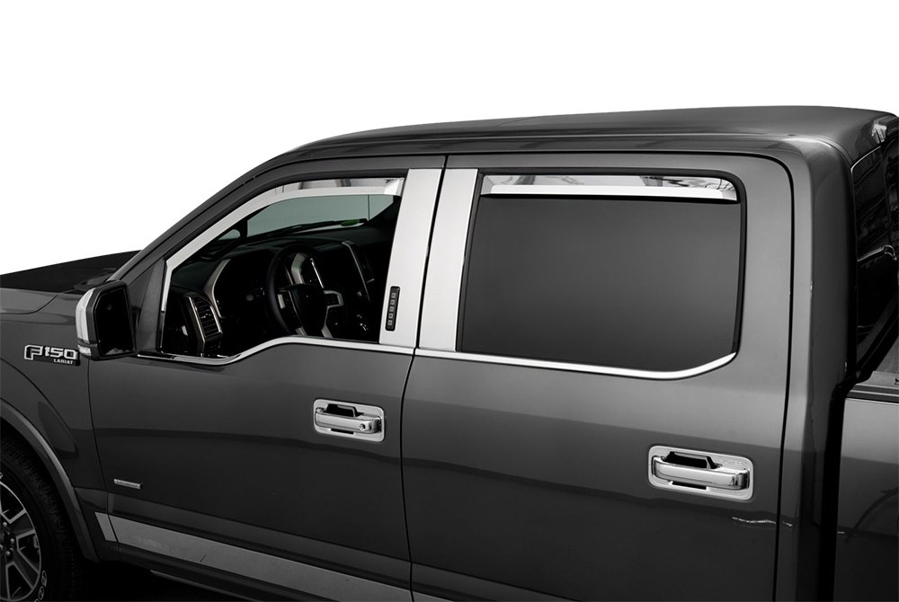 Putco 174 Ford F 150 2015 2016 In Channel Element Window Visors