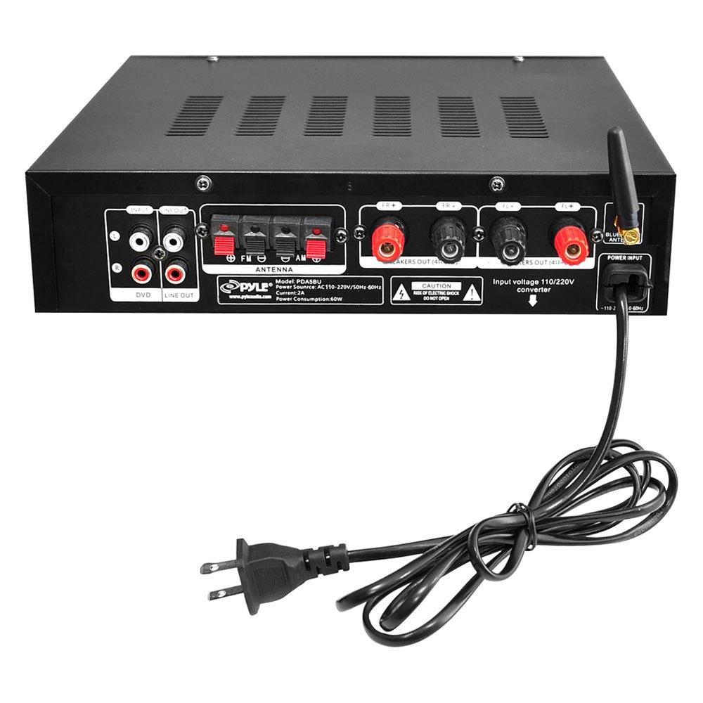 Pyle Pda5bu Bluetooth Stereo 200w Amplifier Am Fm Usb Aux Receiver