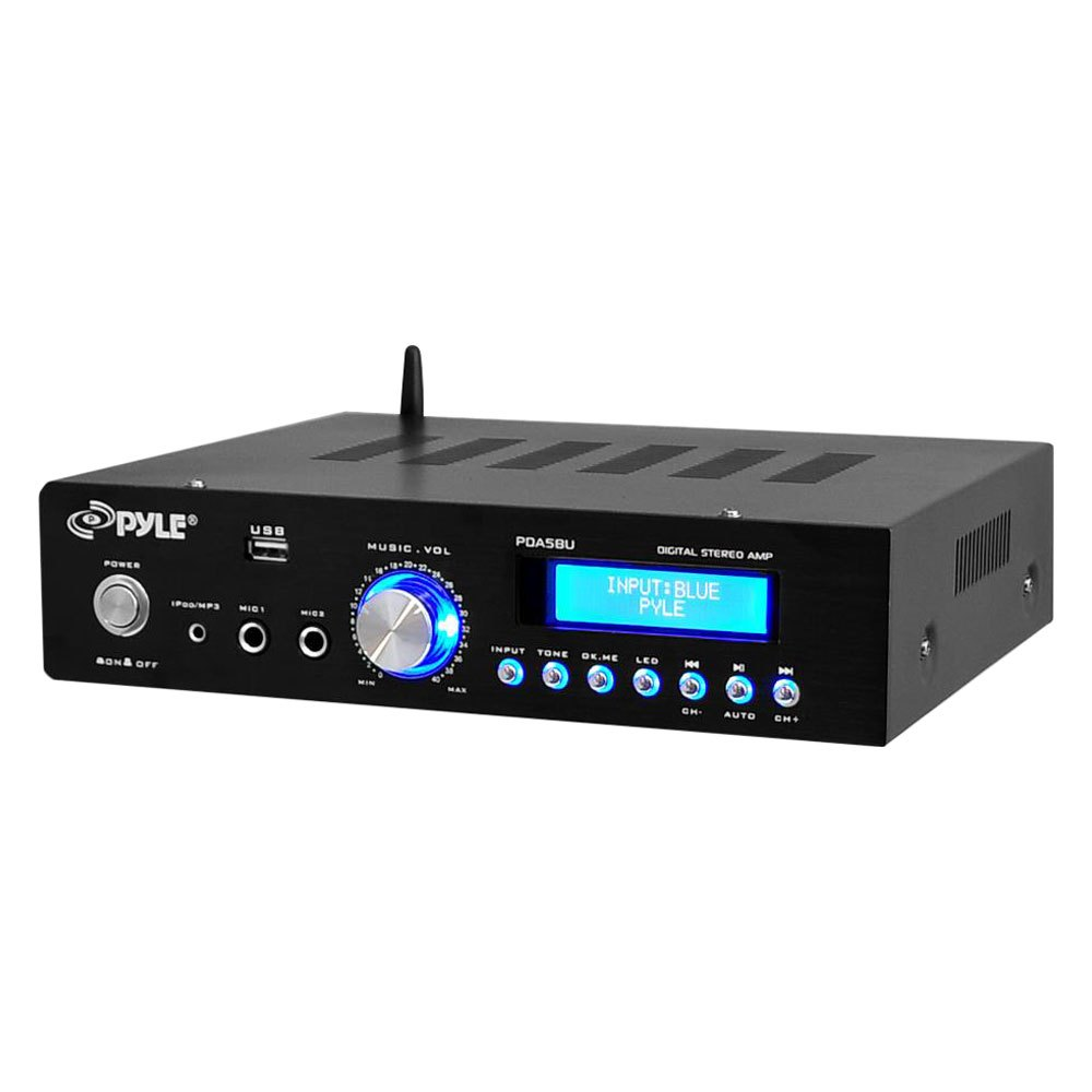 pyle pda5bu bluetooth stereo 200w amplifier am fm usb aux receiver. Black Bedroom Furniture Sets. Home Design Ideas