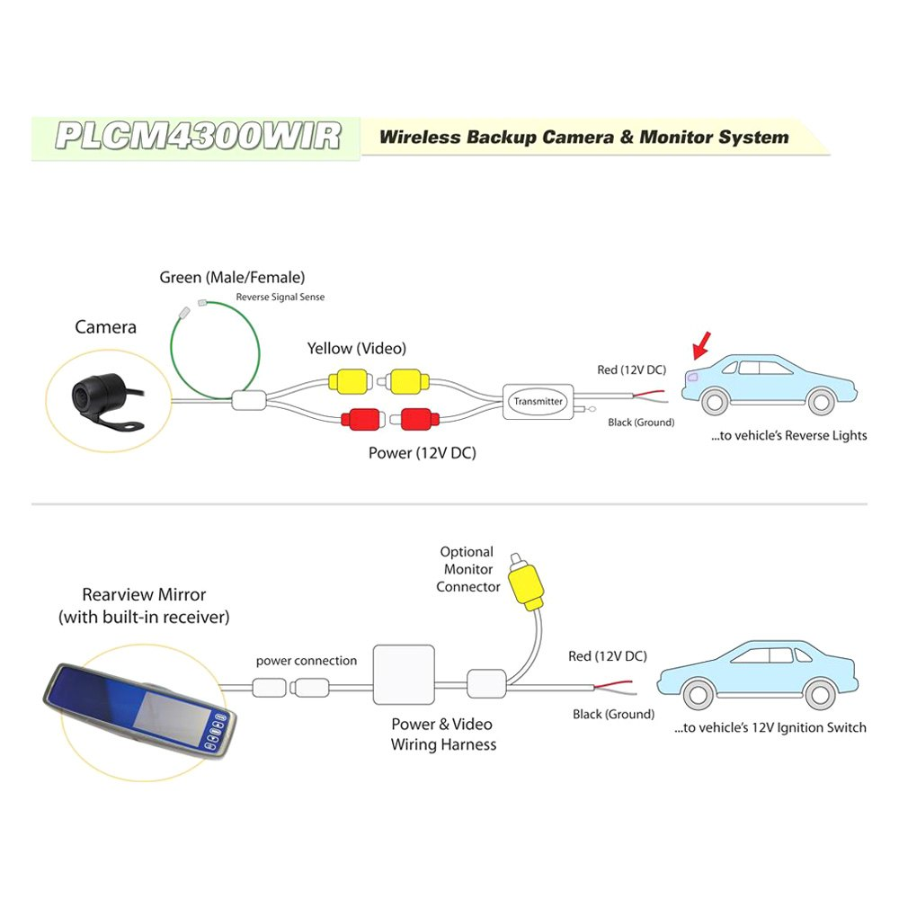 wiring diagram pyle backup camera rear view camera wiring