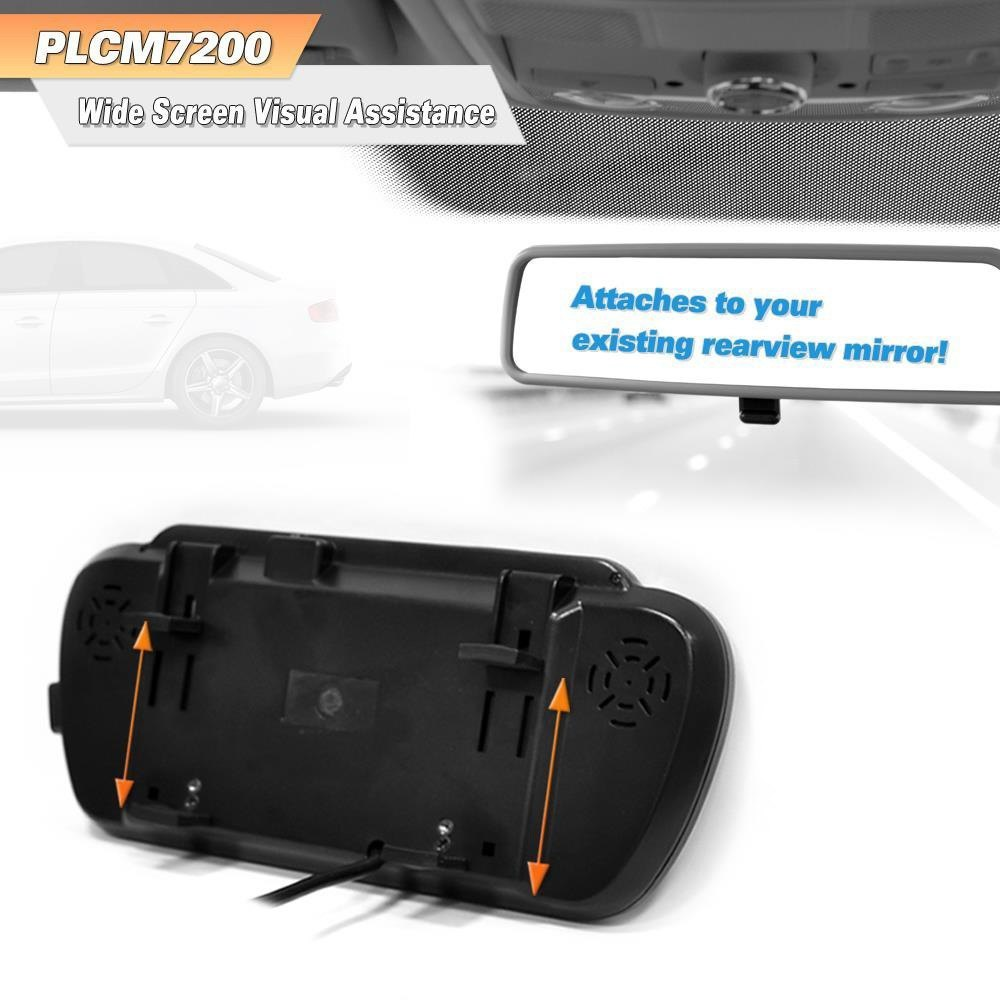 Cool Pyle Plcm7200 Rear View Mirror With Built In 7 Monitor And Top Wiring Digital Resources Dadeaprontobusorg
