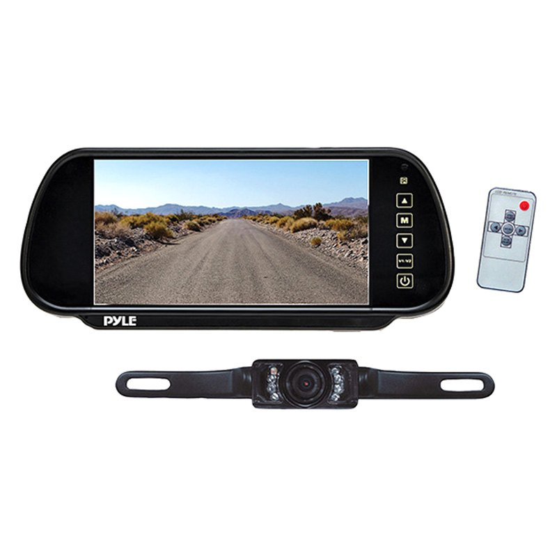 Wondrous Pyle Plcm7200 Rear View Mirror With Built In 7 Monitor And Top Wiring Digital Resources Dadeaprontobusorg