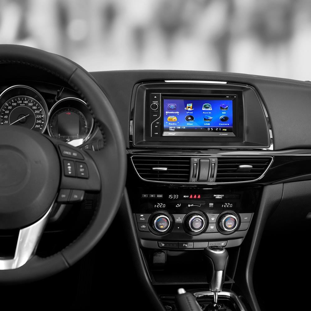 "... Installation-KitPyle® - Double DIN DVD/CD/AM/FM/MP3/MP4/AVI Receiver  with 6.5"" Touchscreen Display and Built-In Bluetooth, Installed"