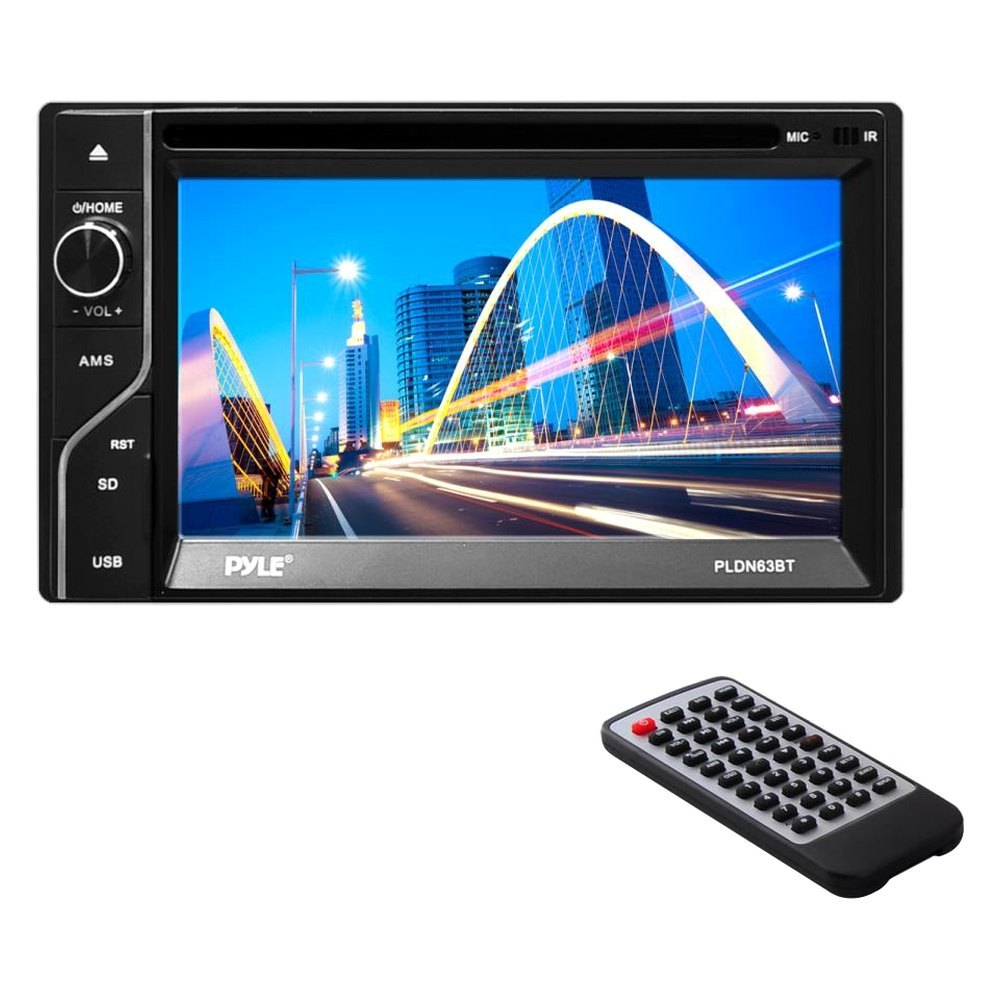 "Pyle® - Double DIN DVD/CD/AM/FM/MP3/MP4/AVI Receiver with 6.5"" Touchscreen  Display and Built-In ..."