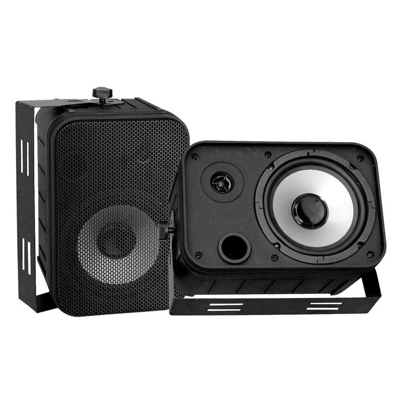 """Pyle 6 5"""" Indoor Outdoor Black Waterproof Speakers"""