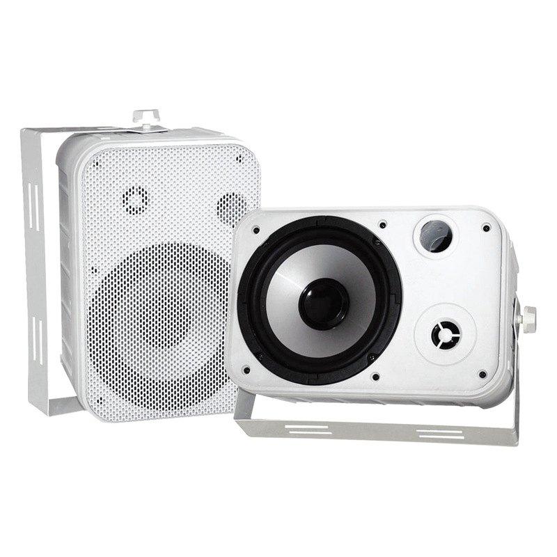 """Pyle PDWR50W 6 5"""" Indoor Outdoor Waterproof Speakers White"""
