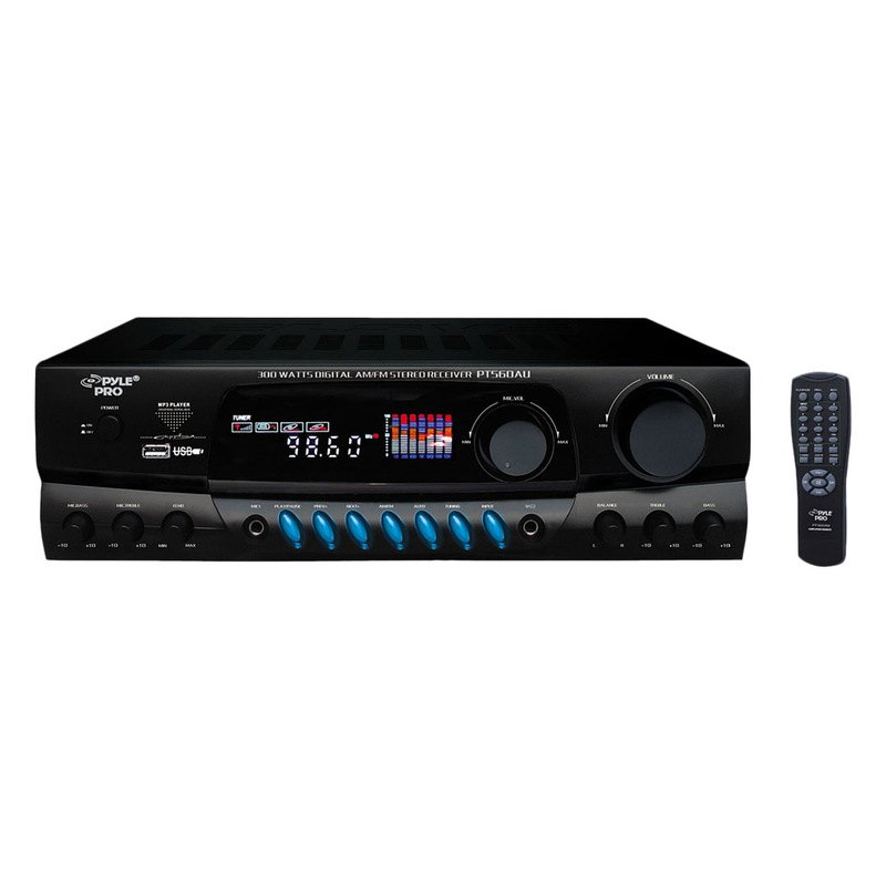 pyle 300w digital home stereo receiver system with usb. Black Bedroom Furniture Sets. Home Design Ideas