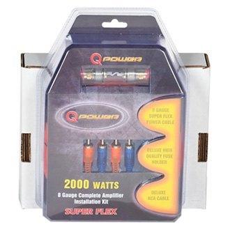 QPower® 4GAMPKITSFLEX - Super Flex Series 4 Gauge Amplifier Wiring on