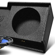 QPower® - Sprayed Black Double Subwoofer Enclosure Box