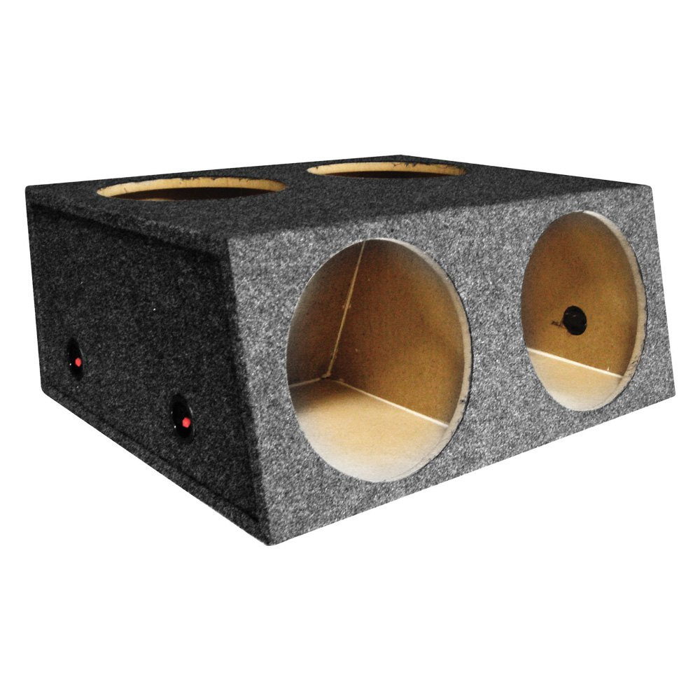 Qpower 12 bass series 4 holes sealed subwoofer box for Costruire box subwoofer