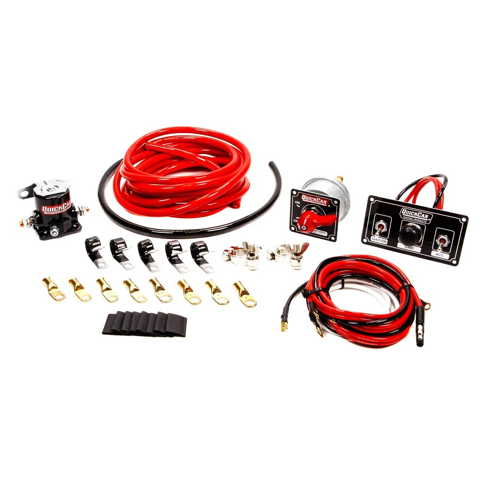 quickcar racing 174 50 832 premium 4 wiring kit with black switch panel master disconnect