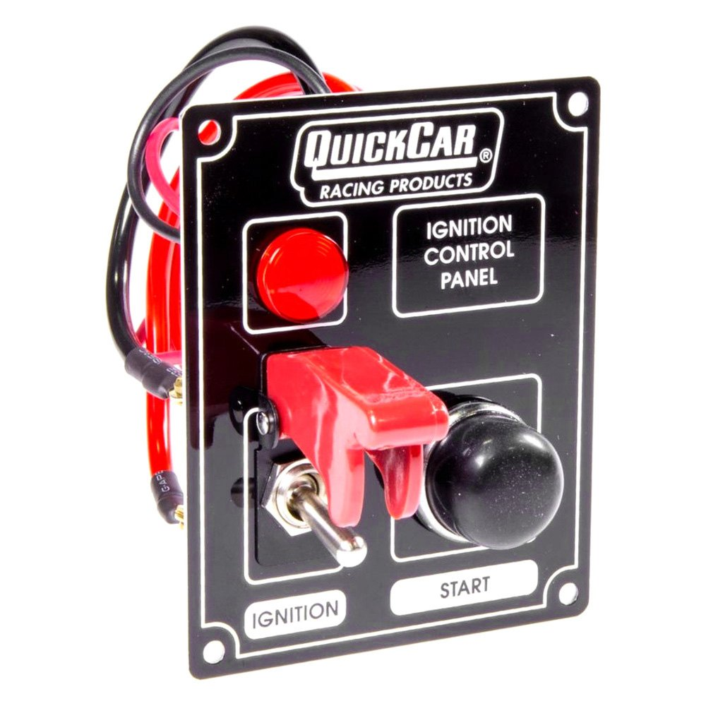 Quickcar Racing 50 853 Ignition Control Panel With Flip Switch Racingr 2gauge Wiring Kit Cover