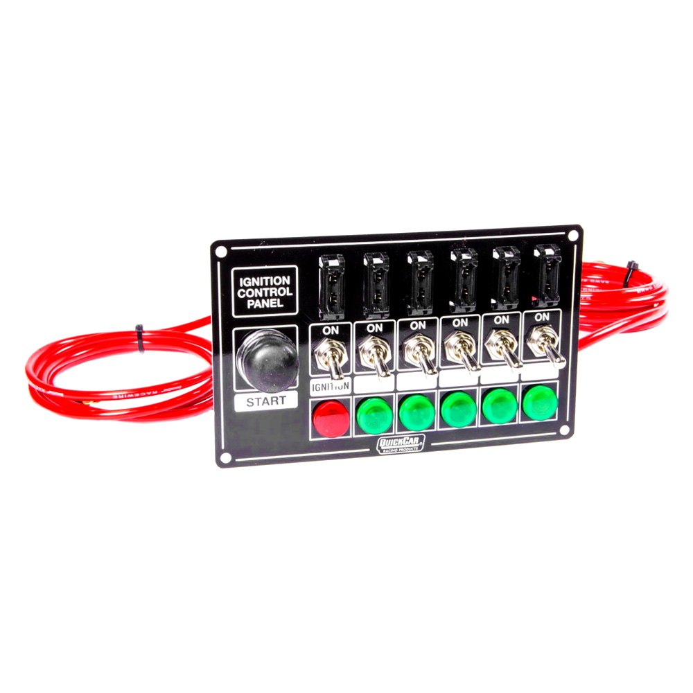 Semi Truck Control Panel : Quickcar racing  fused ignition control panel