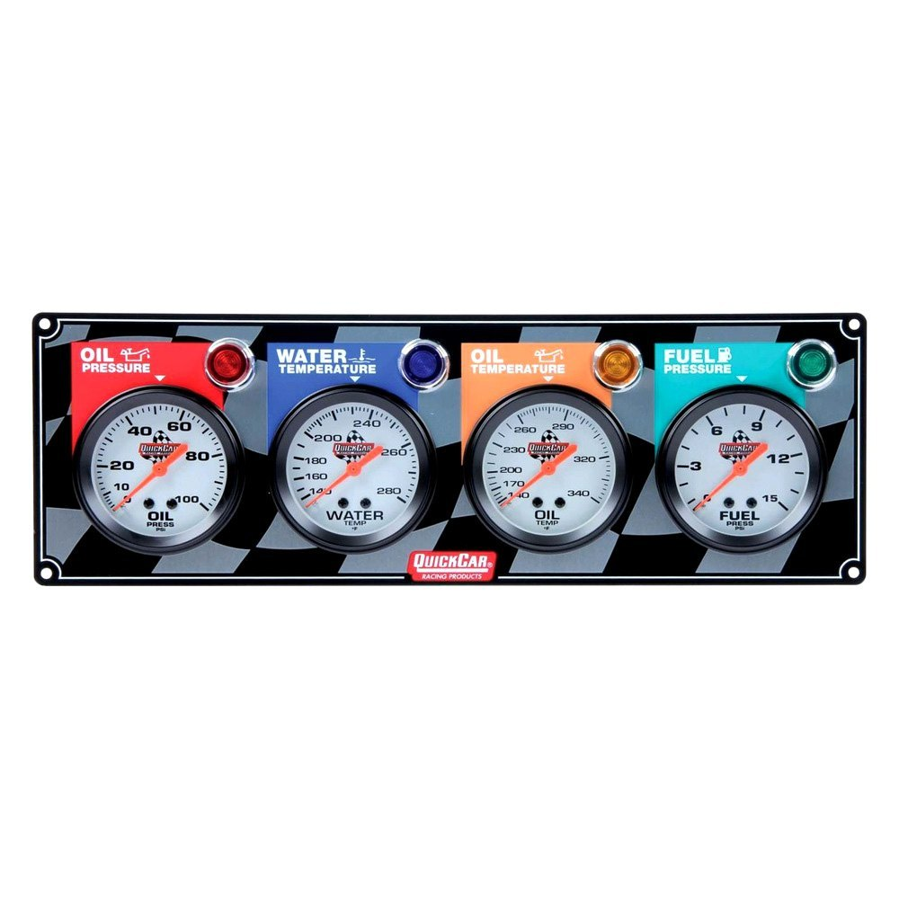 Race Car Gauges Wiring Diagram Will Be A Thing Dash Quickcar Racing U00ae 61 6021 Standard 2 5 8 Quot 4 Gauge Panel