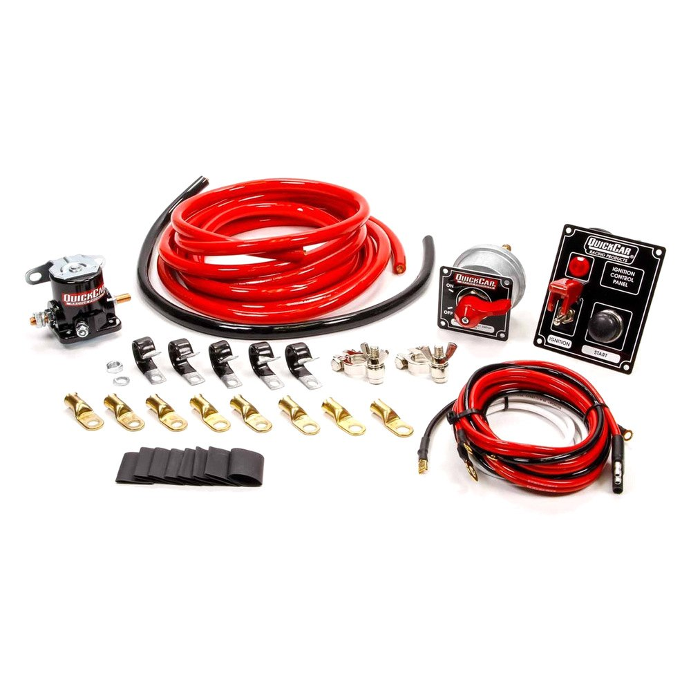 quickcar racing product 174 50 830 wiring kit 2 with black 50 853 panel