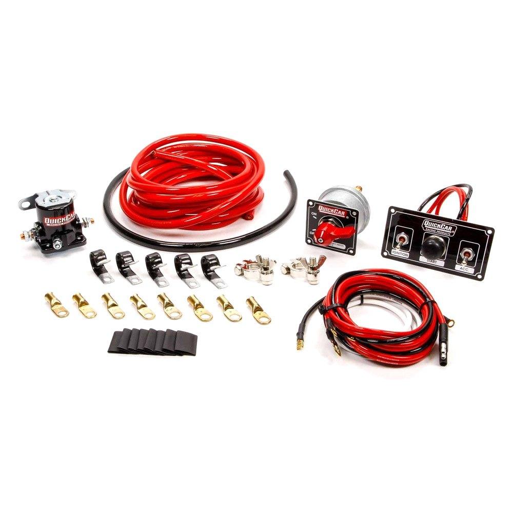 quickcar racing product 174 50 832 wiring kit premium 4 ga wblack 50 820 panel