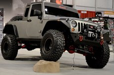 Race Ramps® - Modified Jeep Wrangler on Show Rock