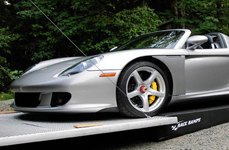 Race Ramps® - Porsche Carrera on Trailer Ramps