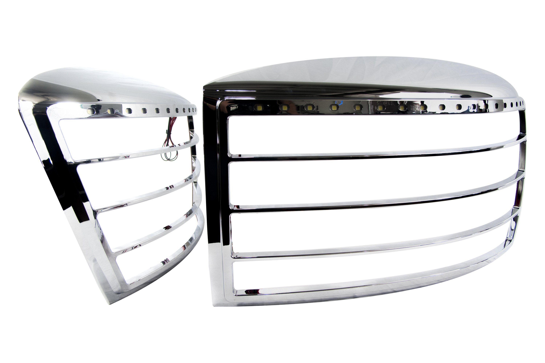 race sport rs 0608ram hlb chrome led headlight bezels. Black Bedroom Furniture Sets. Home Design Ideas
