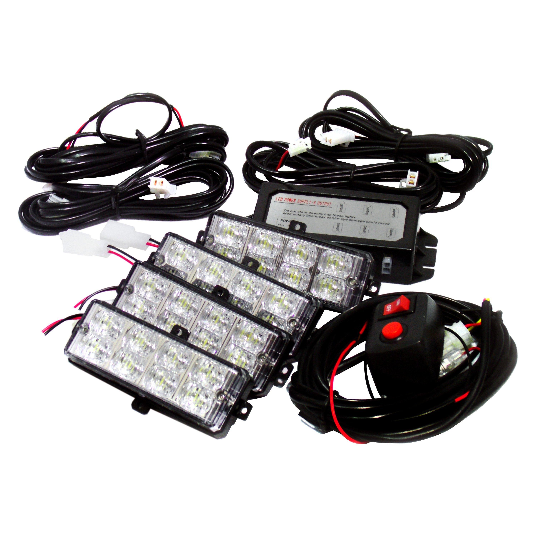 Easy Track Lighting Kit: LED Grille Strobe Light Kit