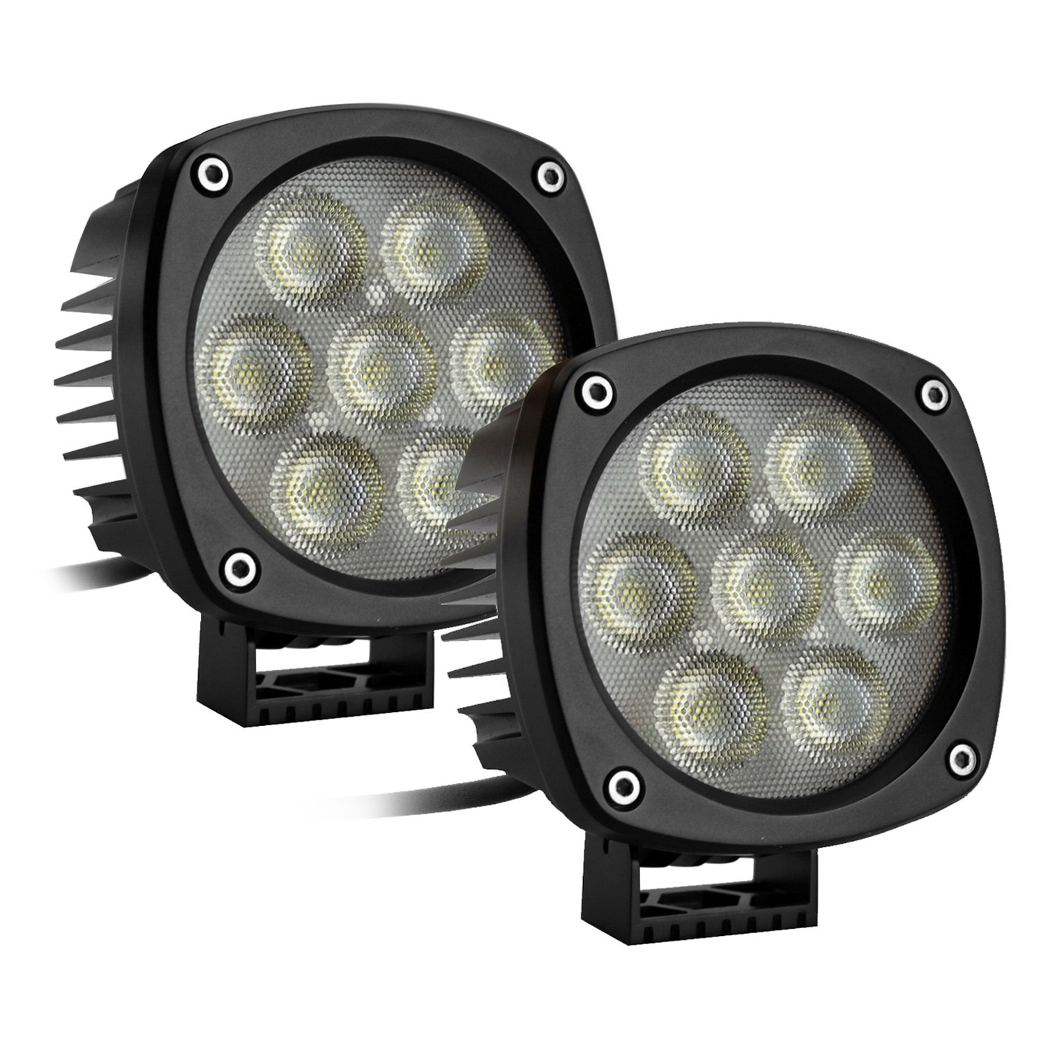 race sport rs 4cree 35w 2 round cree led spot light. Black Bedroom Furniture Sets. Home Design Ideas