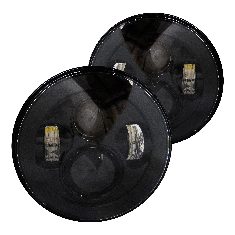 race sport rs 7ledhlp 5500k pr 7 round black projector. Black Bedroom Furniture Sets. Home Design Ideas