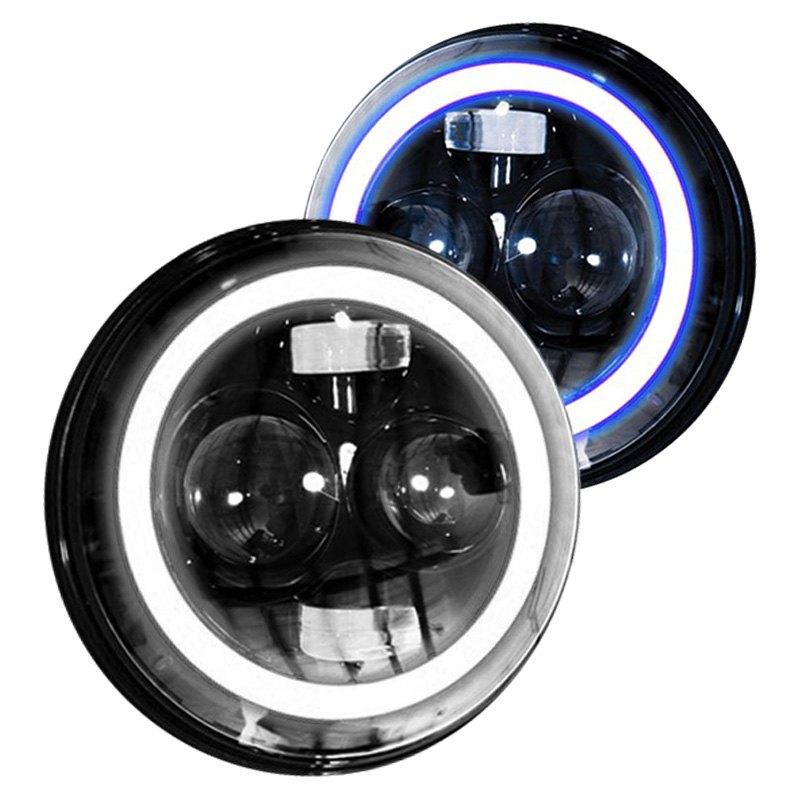 race sport rs 7ledhlp halow b pr 7 round black. Black Bedroom Furniture Sets. Home Design Ideas