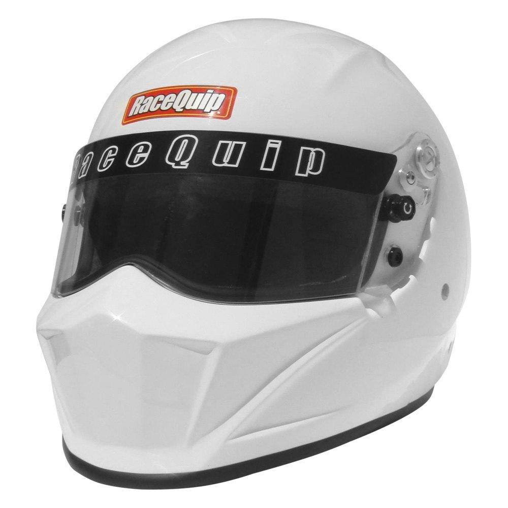 Racing Helmet Garage >> RaceQuip® 283113 - Vesta Series Fiber Reinforced Polymer Racing Helmet, White, M Size, SA2015