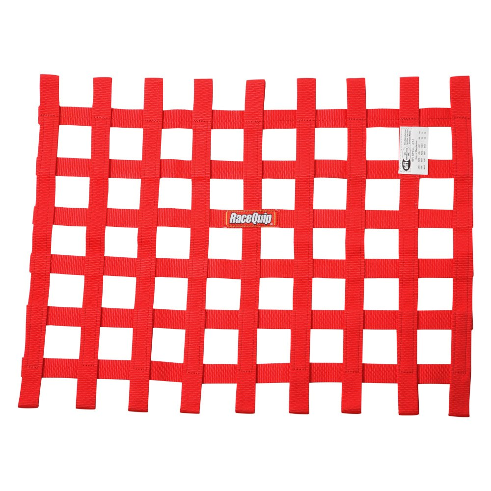 Racequip 725015 red ribbon window net 18 x 24 size for 18 x 18 window
