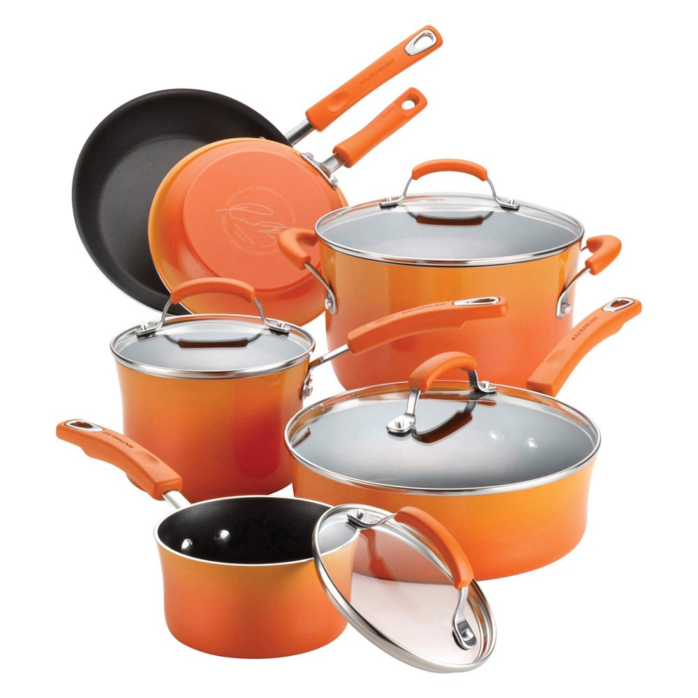 Hard Enamel Nonstick 10-Pc Cookware Set
