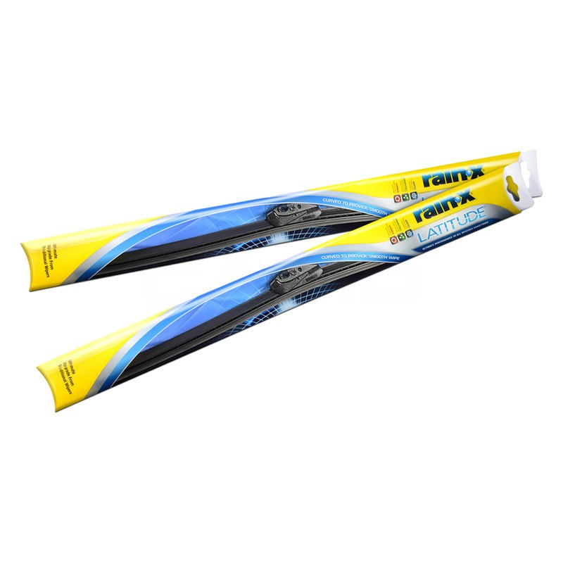 The revolutionary Rain‑X Latitude ® wiper blade contours to the curvature of your windshield to provide even wiping pressure along the full length of the blade.. Product Features. Virtually streak-free visibility – in rain, sleet and snow; Smooth, chatter-free wipe – as a result of the specially blended graphite coated rubber blade; Enhanced flexibility and grip – from the durable.