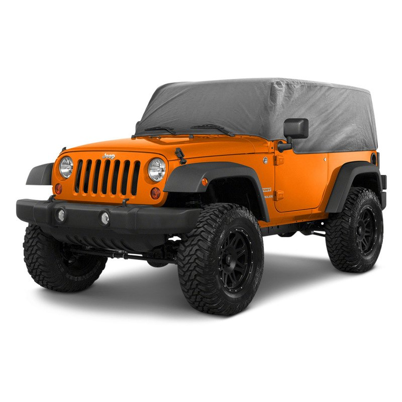 rampage jeep wrangler 2007 gray custom fit 4 layer breathable cab cover. Black Bedroom Furniture Sets. Home Design Ideas