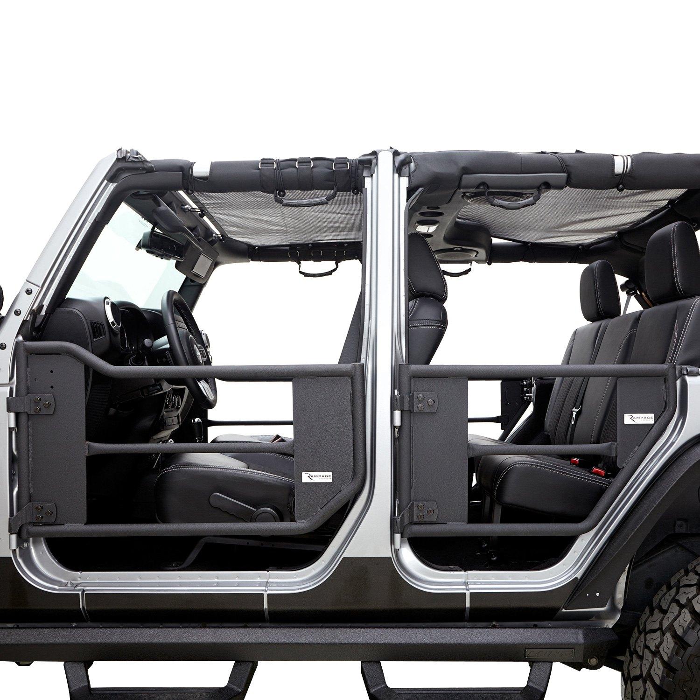 Rampage jeep wrangler safari style black steel