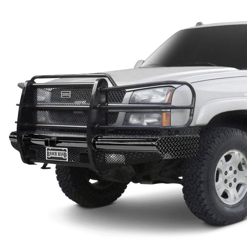 Ranch Hand® - Legend Series Full Width Black Powder Coat Front HD Bumper  with Full Grille Guard