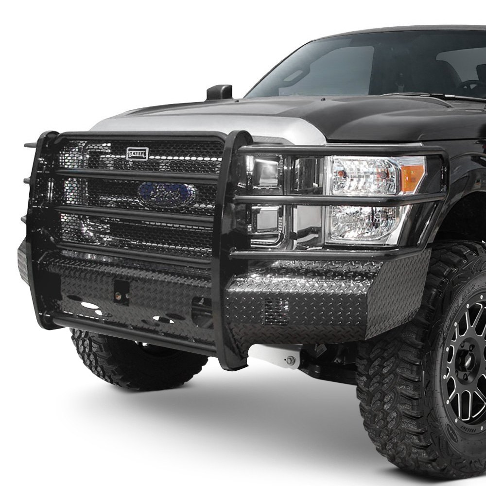 Car Bumper Guard >> Ranch Hand® FSF111BL1 - Summit Series Full Width Tough Black Front HD Bumper with Full Grille Guard