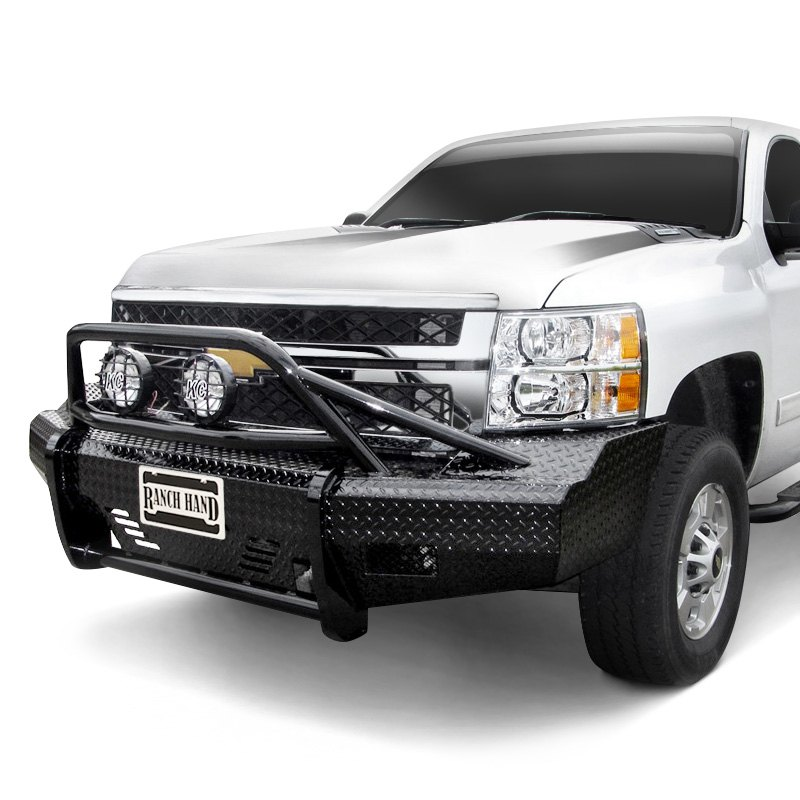 ranch hand chevy silverado 2014 summit bullnose series full width black front hd bumper. Black Bedroom Furniture Sets. Home Design Ideas
