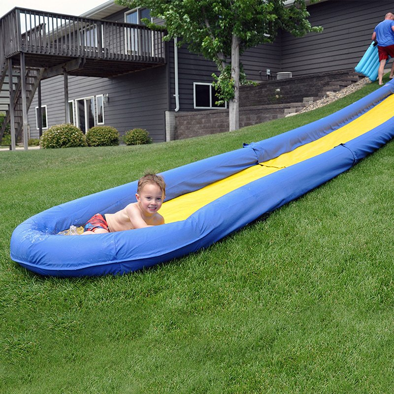 backyard water slide the world s backyard water slide