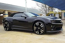 RAW® - ZETA Satin Black with Machined Face on Chevy Camaro