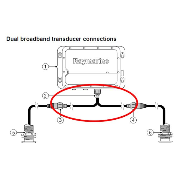 Raymarine 174 A102146 Transducer Y Cable For Cp450c Sonar