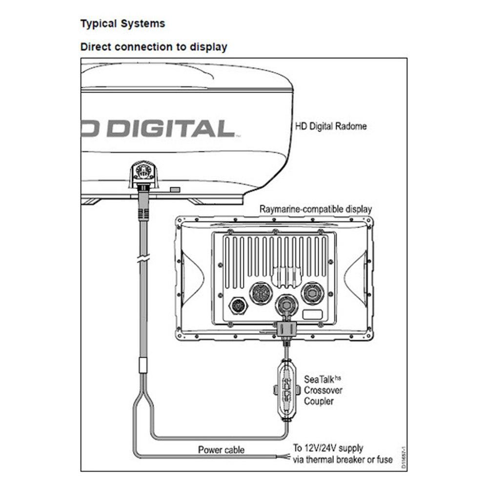"Raymarine T70169 - HD Color 4 kW 24"" Radome Radar with 10 ..."